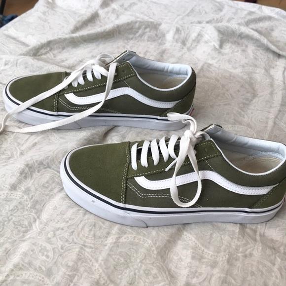 55398af9c26 Olive Green Old Skool Vans. M 5a9085ec077b97d00bf03301. Other Shoes ...